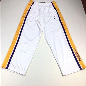Vintage NIKe LA Lakers White Tear Away Track Pants